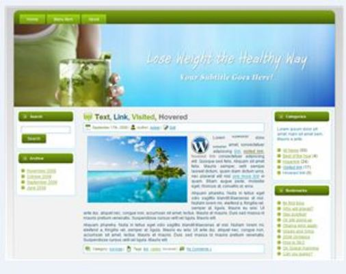 Product picture Weight Loss WP HTML Blogger Blog 03 (MRR)