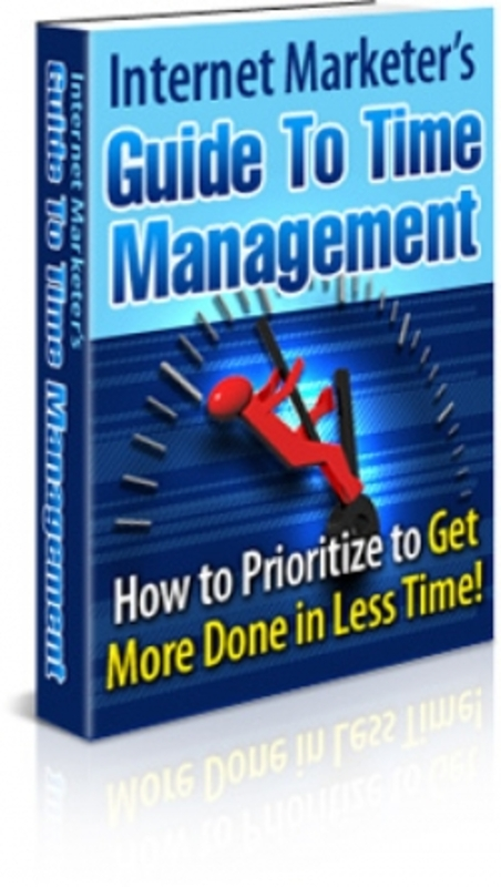 Product picture Internet Marketers Guide To Time Management